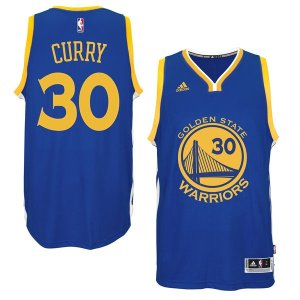 AdidasMen's Golden State Warriors Stephen Curry adidas Royal Player Swingman Road Jersey