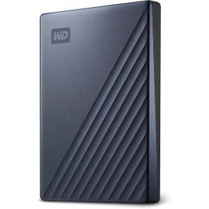 $119.99起WD 5TB My Passport Ultra USB-C 移动硬盘