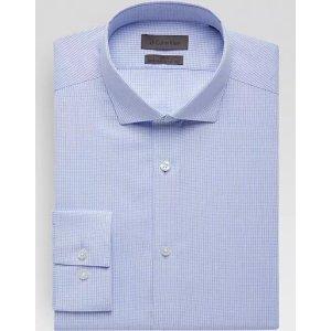 CalvinKlein3 for $99.99Calvin Klein Blue Mini Check Slim Fit Dress Shirt