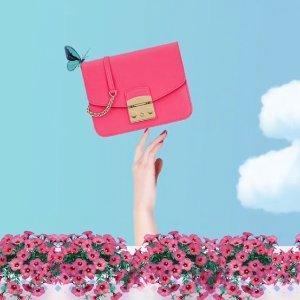低至5折 £107收Furla,£854收Marni风琴包MONNIER Frères 折扣区粉色系美包美鞋专场 粉粉惹人爱