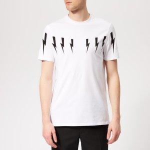 Neil BarrettMen's Bolt Wings T-Shirt - White/Black