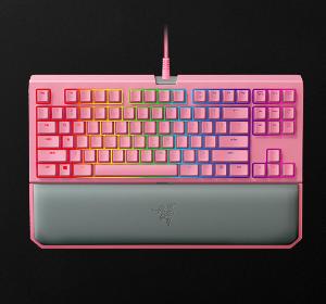 $177.68 (原价$189.67)Razer 雷蛇樱花粉键盘,游戏小姐姐看过来