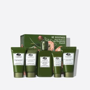 OriginsBE SOOTHED Mega-Mushroom Skin Strengthening Essentials ($114 Value) | Origins