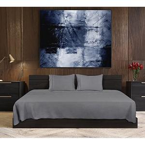 $26.99(原价$89.99)Utopia Bedding 床上四件套 King尺寸灰色