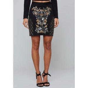 BebeBead & Sequin Miniskirt