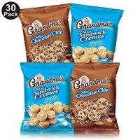 Grandma's 迷你曲奇饼干 巧克力+香草夹心 2种口味 30袋装