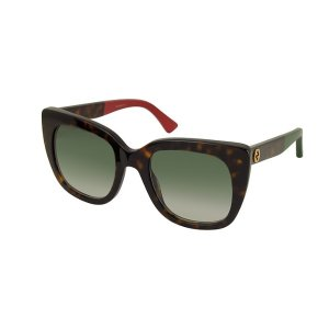 GucciSquared-frame Optyl Sunglasses w/Web Temples