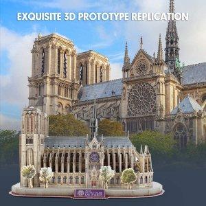 $13.99起 收巴黎圣母院等CubicFun 多款3D拼图特价,全家一起来拼世界地标建筑