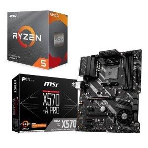 $389.98 (原价$409.98)AMD RYZEN 5 3600X 6核 + MSI X570-A PRO 主板