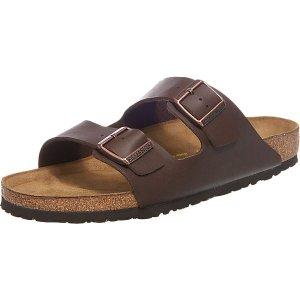 BirkenstockArizona 两扣拖鞋 深棕色