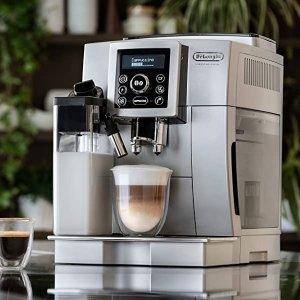 折后€375 原价€908DeLonghi 德龙全自动咖啡机 研磨、奶泡一机搞定 真正现做咖啡