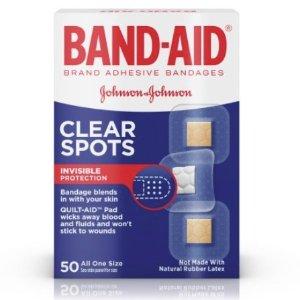 $1.89 白菜价Band-Aid 透明创可贴 50片 小片装