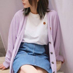 Kenzo7折,三色可选!小虎头香芋紫开衫