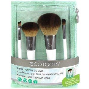 $14.97(原价$23.60)EcoTools 4支化妆刷套装 含高cp值蜜粉刷