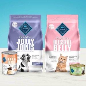 全场8折 + 订阅9.5折Blue Buffalo 新系列True Solutions宠物粮食促销