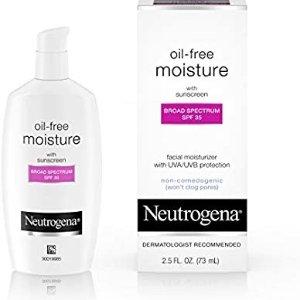 $8.02(原价$11.25)Neutrogena露得清 无油防晒保湿霜 SPF 35