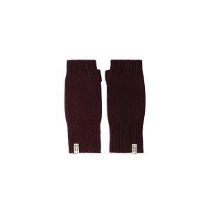 StrathberryCashmere Fingerless Gloves - Burgundy