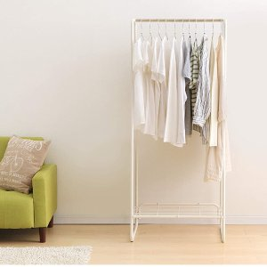 折后仅€15.56 原价€39.99日系简洁立式衣架 极简主义必备 挂衣储物2合1