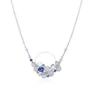 Tiffany & Co.Paper Flowers钻石花蓝宝石项链