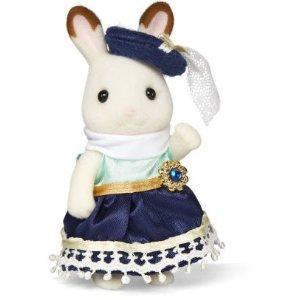 Calico Critters Town Girl Series - Stella Hopscotch Rabbit Town Girl Series - Lulu Silk Cat