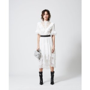 The Kooples白色蕾丝蛋糕裙
