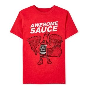 The Children's Place男童T恤 awesome sause图案