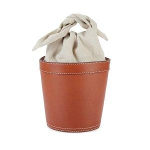 StaudBritt Leather & Canvas Bucket Bag