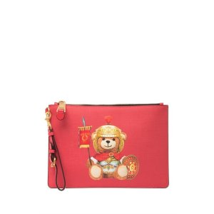 MoschinoEco Leather Teddy Bear Wrist Pouch