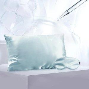 玻尿酸真丝枕套眼罩套装