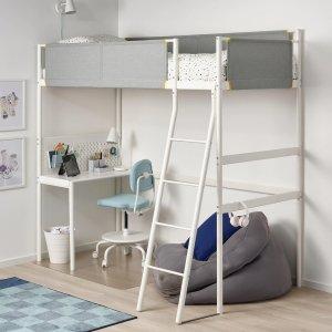 IkeaLoft床+书桌