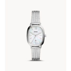 FossilLyla Three-Hand Date Stainless Steel Watch