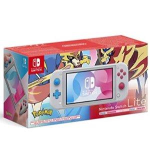 7.9折特价 缺货下单锁价Nintendo Switch Lite-Zacian & Zamacenta剑盾限定版
