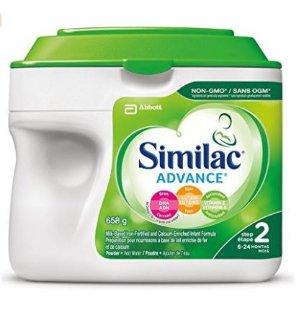 补货啦!$27.53 包邮(原价$32.99)Similac Advance Step 2 不含转基因原料配方奶粉, 658g