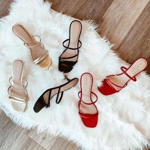 全场7.5折+免邮 粗跟靴$67最后一天:Aldo 早春特卖 细带凉鞋$60 女童花朵袜子鞋$48