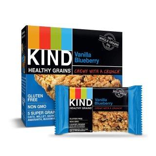 $13.87KIND Healthy Grains Bars, Vanilla Blueberry, Gluten Free, 1.2 oz, 5 Count (6 Pack)