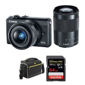 Canon EOS M100 + 15-45mm + 55-200mm 镜头无反套机