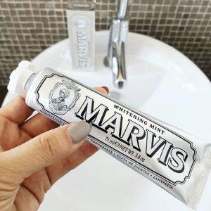 $7(原价$12)Marvis 薄荷味美白护齿牙膏75ml  牙膏中的爱马仕