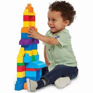 $14.97(原价$17.7)Mega Bloks 儿童大块积木 帮助孩子认知图形颜色 80颗