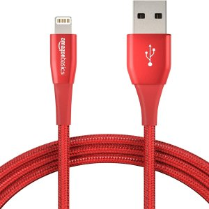 AmazonBasics Double Nylon Braided Lightning Cable