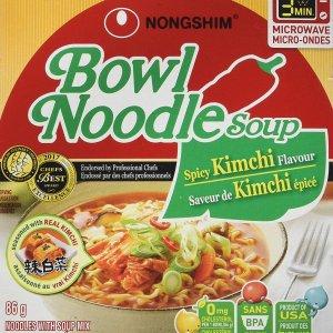 现价$8.88(原价$14.65)史低价:Nongshim 农心 泡菜味桶装方便面 12桶x86g