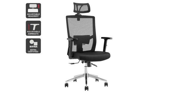 Everest Ergonomic Chair (Black)   Chairs  