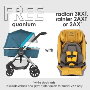 Only $299.99( $949.97 Value)Diono Radian Car Seat + Quantum Stroller Bundle