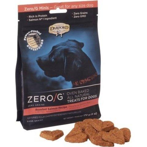 Darford Zero/G Minis Roasted Salmon Dog Treats, 6-oz