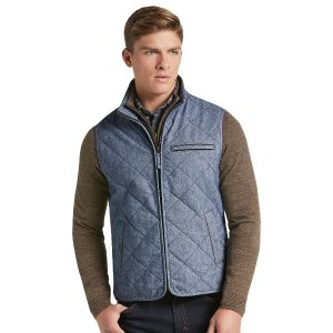 1905 Collection Tailored Fit Donegal Diamond Quilted Vest CLEARANCE