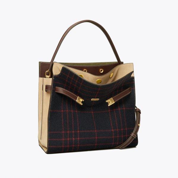 Lee 格纹手提包