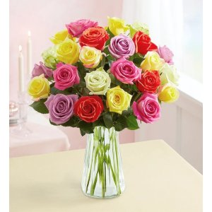 via code SAVE20MDAYTwo Dozen Assorted Roses for Mother's Day