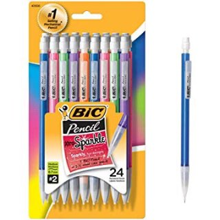 BIC Xtra-Sparkle Mechanical Pencil, Medium Point (0.7 mm), 24-Count @ Amazon.com