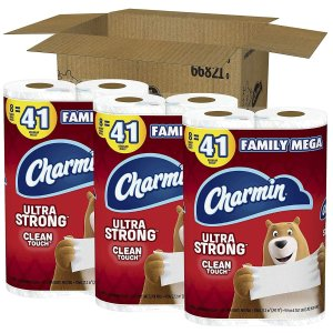 $27.66Charmin Ultra Strong Clean Touch Toilet Paper, 24 Family Mega Rolls