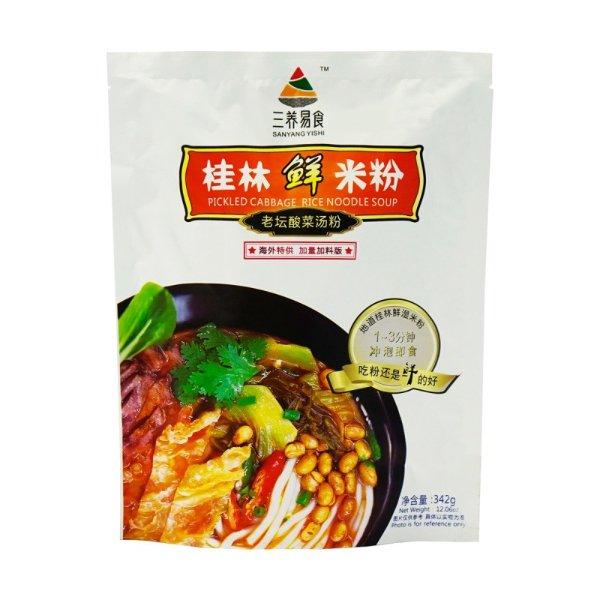 三养易食 老坛酸菜鲜米粉 袋装 342g