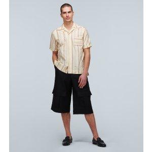 条纹短袖衬衣